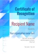 certificate of recognition blank Image