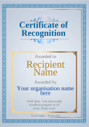 certificate of recognition well done award Image