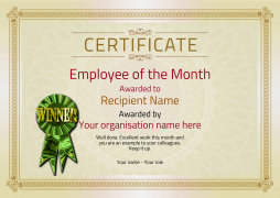 employee of the month certificate winner Image
