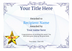 school certificate template merit image - First Place Award Certificate Template
