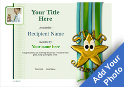 Free certificate templates simple to use add printable badges medals school certificate template star of the week image yelopaper Choice Image