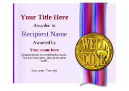 school certificate template well done Image