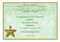 Employee of the month certificate free well designed templates vintage1 greenemployee stareyes image yadclub Gallery