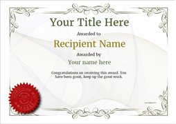 Free certificate templates simple to use add printable badges medals free certificate templates and awards yadclub Image collections
