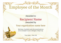 photograph regarding Employee of the Month Printable Certificate referred to as Staff of the Thirty day period Certification - Cost-free Nicely Constructed Templates