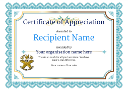 picture about Free Printable Certificates of Appreciation called Certification of Appreciation and Thank Oneself - Absolutely free and Uncomplicated