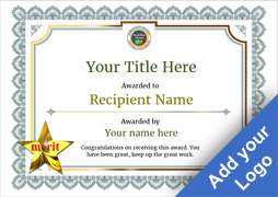 vintage3 default_blank merit image - First Place Award Certificate Template