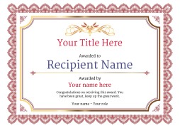 Free certificate templates simple to use add printable badges medals vintage3 redblank image maxwellsz
